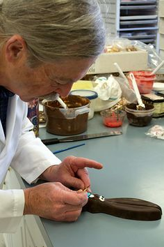 Ears has his bow tie fixed after a long day romping around our campus. See more of Ears' adventures on the #hdblog.