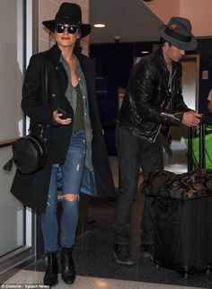 Bride of Dracula:Nikki Reed looked loved up as she jetted out of Los Angeles with her Vampire Diaries hunk husband IanSomerhalder
