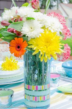 DIY Vase + Washi Tap