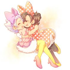 Daisy Duck and Minnie Mouse. Sooooo cute. ^-^