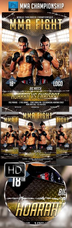 Mma Fighting Flyer Template   Mma Fighting Flyer Template And Mma