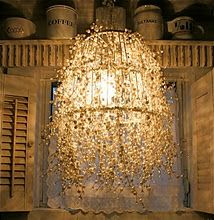 DIY Lantern - Dripping pearls on a wire cage! Magical and lovely!