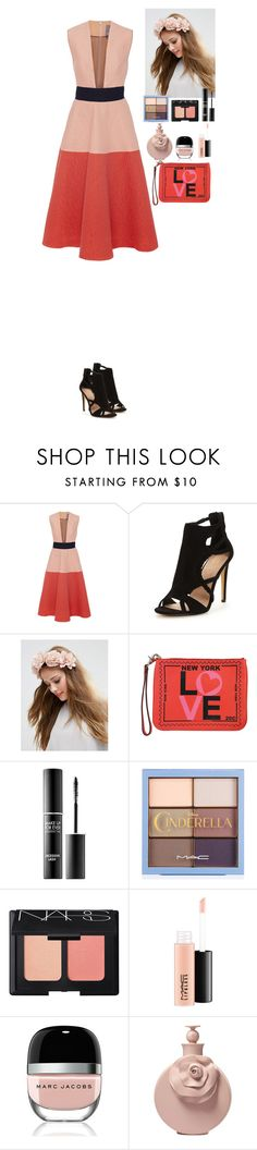 """""""Outfit"""" by eliza-redkina ❤ liked on Polyvore featuring Lela Rose, ASOS, Rebecca Minkoff, MAKE UP FOR EVER, NARS Cosmetics, MAC Cosmetics, Marc Jacobs, Valentino, Summer and outfit"""