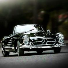1957 Mercedes-Benz 300SL Roadster US Edition   R198   Sport Leicht or Sport Light   2nd Benz SL-Klasse Grand Tourer Convertible   US Specs Headlights   3.0L Straight 6 215hp   Top Speed 250 kph 155 mph   1858 units were produced between 1957 - 1963   Cabriolet - Roadster, Soft - Top, Hard - Top
