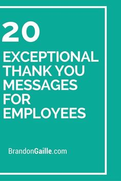 20 Exceptional Thank You Messages for Employees
