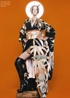 Factice by Michele Yong Japanese Kimono, Japanese Style, French Fashion, Modern Fashion, High Fashion Shoots, Modern Kimono, Kimono Fashion, Geisha, Traditional Outfits