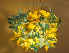 Make a Recycled Plastic Bottle Chandelier