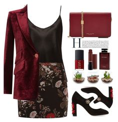 """""""Untitled #546"""" by jovana-p-com ❤ liked on Polyvore featuring La Perla, Ganni, Dolce&Gabbana, Marc Jacobs, NARS Cosmetics and Emilio Pucci"""