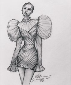 Fashion design sketches 796503884084595828 - My Sunday Night Sketch – always muse zendaya thomas in Vogue Magazine Fashion Drawing Tutorial, Fashion Figure Drawing, Fashion Drawing Dresses, Fashion Illustration Dresses, Drawing Fashion, Fashion Dresses, Drawings Of Dresses, Croquis Fashion, Dress Illustration