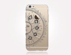 Transparent Sun Mandala iPhone Case Transparent Case by CRCases