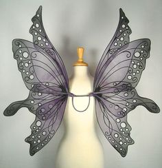 Ariel Fairy Wings in Purple and Black by OnGossamerWings on Etsy