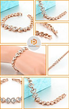 The stunning rose gold and ice bracelet is a one-of-a-find! The eye catching Austrian crystals are the perfect compliment to the rose gold chain, making it the perfect match for any trendy outfit year around. Shop Now!