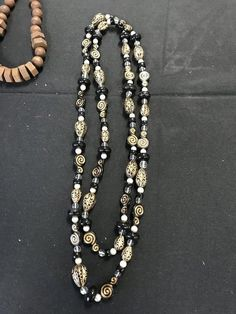 Vintage Costume jewelry lot OVERSIZED NECKLACES. Various materials. 20 pieces. Faux white coral & Costume jewelry watches etc. including vintage costume jewelry ...