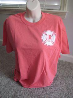 Monogrammed Maltese Cross Fire Department Shirt. Firefighter Wife. Firefighter Girlfriend. Fire Wife. Maltese Cross. Firefighter. Fire. (12.00 USD) by ElleQDesigns