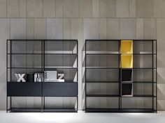 Minima Storage System by Fattorini + Rizzini + Partners srl, produced by MDF Italia. Cabinet Furniture, Design Furniture, Home Office Furniture, Console Design, Shelf Design, Bookcase Shelves, Display Shelves, Bookshelves, Muebles Home