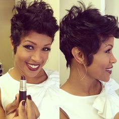 Had to copy Ms. Val Warner's cut!  While I don't look like Val, I love this do so far!