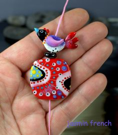 °° BIRDY'S TRIP TO NORWAY °° focal lampwork bead set by jasmin french