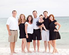 Black and white for family beach pics?