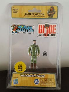 GI JOE World's Smallest Toy Miniature Man Of Action Retro 80's 3 Inches Tall #Hasbro
