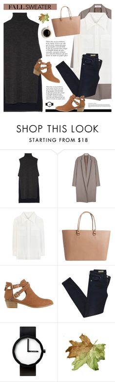 """""""Get Cozy: Sleeveless Turtleneck"""" by novalikarida ❤ liked on Polyvore featuring ADAM, Organic by John Patrick, Chloé, Pieces, SPURR, Anja, AG Adriano Goldschmied, Issey Miyake and sleevelesssweater"""