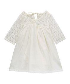 Look at this #zulilyfind! White Long-Sleeve Shift Dress - Infant & Kids #zulilyfinds