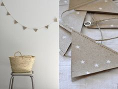 sewn paper banner ~ minimally perfect!