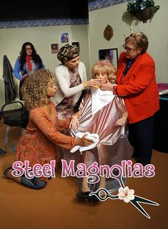 Logo design and photography for community theatre, Carrollwood Players Theatre' production of Steel Magnolias. Theatre Production, Steel Magnolias, Actor Headshots, Service Awards, Business Headshots, Digital Photography, Logo Design, Community, Actors