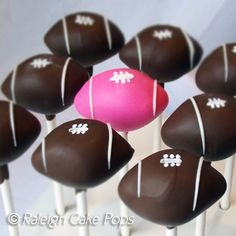 Pink Football Cake Pops