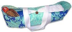 Yoga Mat bag tutorial.  This is like the one I won from ReDux Goods Etsy shop 4 yrs ago.