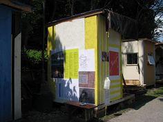 studio shack for artist by Simon Draper