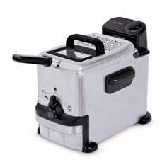 Deep Fryer 1 Clean Stainless Steel 8 L Ez Compact Filtration System Stainless Steel Appliances, Small Appliances, Kitchen Appliances, Electrical Appliances, Best Deep Fryer, Compact, Electric Deep Fryer, Electric House, Cleaning
