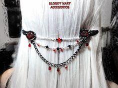 Chain head Victorian Headpiece Hair por BloodyMaryAccesorios