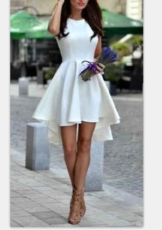 ELEGANT FRONT SHORT BACK LONG DRESS