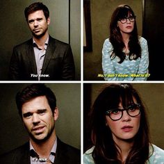 New girl. Nick and Jess New Girl Memes, New Girl Quotes, Girl Humor, New Girl Funny, Best Tv Shows, Favorite Tv Shows, New Girl Nick And Jess, New Girl Tv Show, Jessica Day