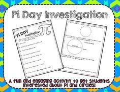 Pi Day Investigation Activity *Freebie***Perfect Activities for Pi Day!*Are you looking for a fun way to get your students involved in learning about pi and circles? This freebie includes 10 questions for students to research dealing with pi, Pi Day and circles.