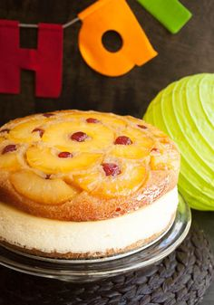 Pineapple Upside Down Cheesecake Cake - The Merchant Baker