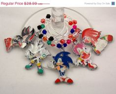 Sonic Heroes inspired wine glass charms set of 5 by TheWarpZoneStore, $15.29