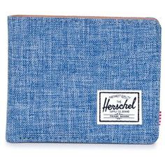 Men's Herschel Supply Co. 'Hank' Bifold Wallet ($35) ❤ liked on Polyvore featuring men's fashion, men's bags, men's wallets, bi fold mens wallet, mens wallets and mens bifold wallets