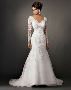Long sleeve backless Wedding Dresses / open back von lucksell
