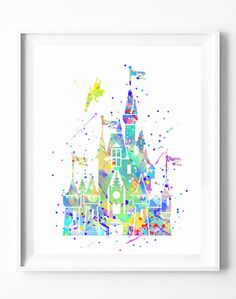 Disney Princess Castles Poster Art Print Watercolor Painting Wall Art Home Decor Baby Girls Nursery Kids Wedding Gifts For Her [72]#disney #princess #castles #girl #watercolor #print #poster #homedecor #wallart #gifts #nuresey #kidshttps://subcow.netFREE SHIPPING to worldwide + 20% off DISCOUNT