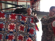 "Quilts of Valor: A ""Quilt of Valor"" Home Coming celebration blue quilt"