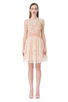 Mini dress in lace with appliqués - Elisabetta Franchi