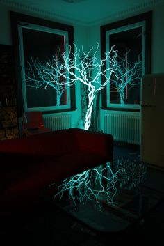 EL Wire Cube Sculpture | String art, Wire art and Craft