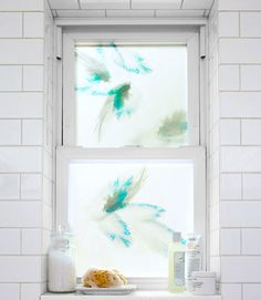 Designers at Trove borrowed nature-inspired prints from the company's gorgeous wallpaper line for a new collection of window film. A cinch to apply, the coverings let light in while still affording privacy. (From $7.25 per square foot; four-square-foot minimum; troveline.com)