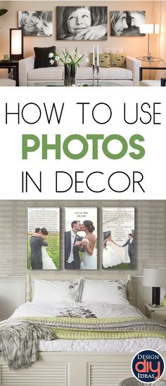 The key with decorating with photographs is to be intentional. Here's a few tips and tricks to make your family photos a work of art.