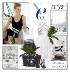 All about the sea!! by lilly-2711 on Polyvore featuring мода, La Perla, Halston Heritage and Chanel