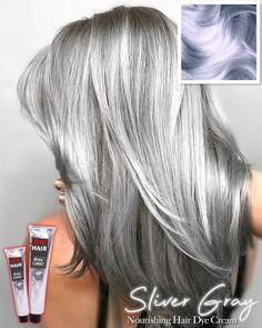 Silver Grey Hair Dye, Grey Wig, Silver Hair Colors, Long Grey Hair, Trendy Hair Colors, Short Silver Hair, Grey Hair Looks, Silver Blonde, White Hair