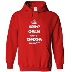 Keep calm and let India handle it T Shirt and Hoodie - #purple hoodie #fitted shirts. TRY  => https://www.sunfrog.com/Names/Keep-calm-and-let-India-handle-it-T-Shirt-and-Hoodie-9267-Red-26633727-Hoodie.html?id=60505