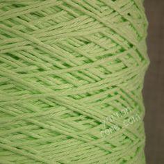 Soft Italian double knitting DK cotton yarn on cone -  mint green