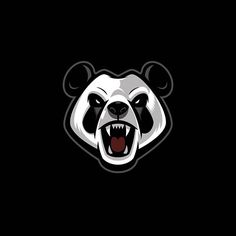 Little change of pace. Logo / brand development WIP. Simplified Mad Panda. #logo #panda #madpanda #vector #illustration #bear #sweyda